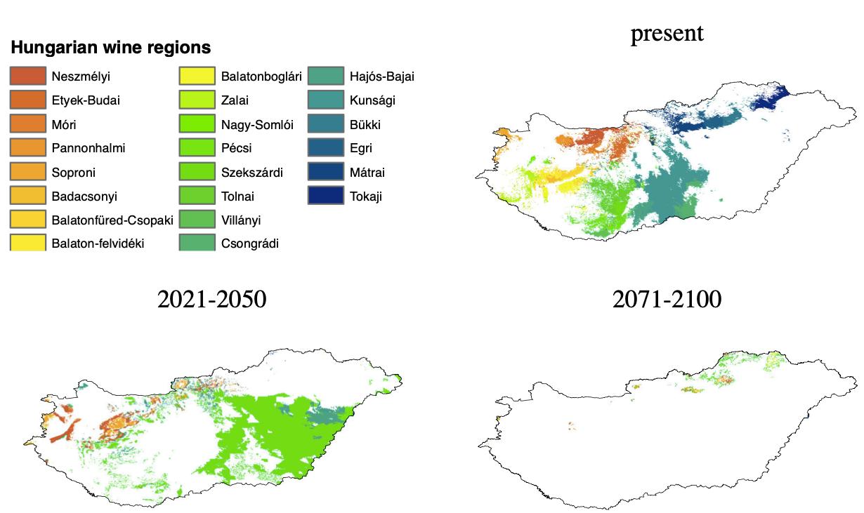 Klímaváltozás és a borrégiók