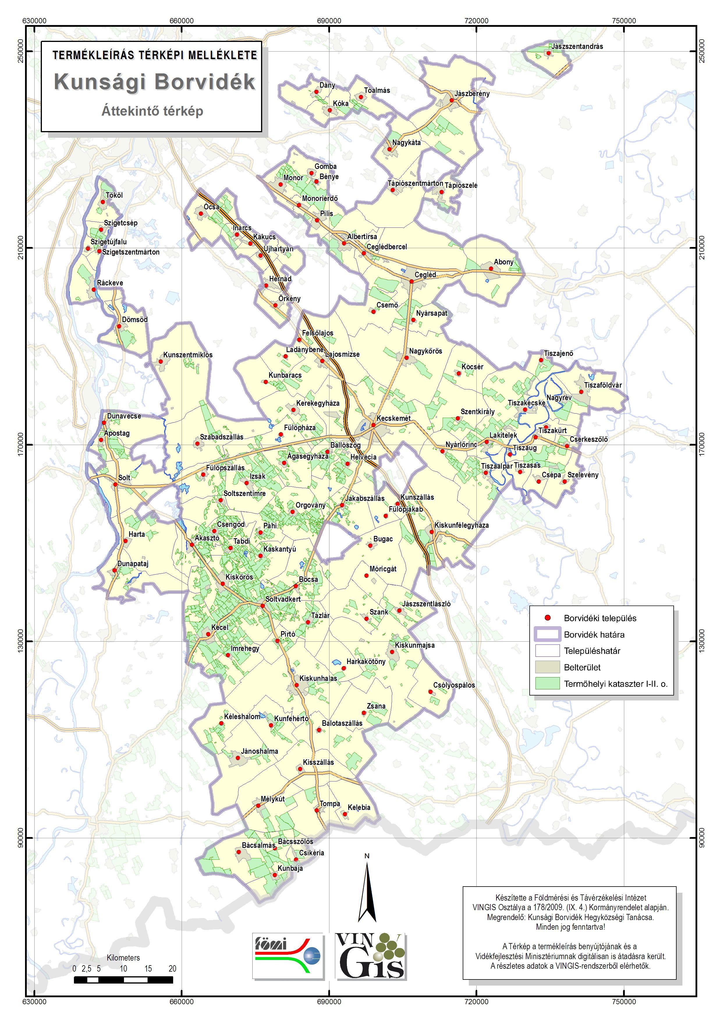 Kunsági Borvidék térkép